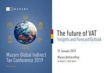 Mazars Global Indirect Tax Conference 2019 - Invitation